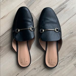 Target A New Day Black Mules with Gold Accent